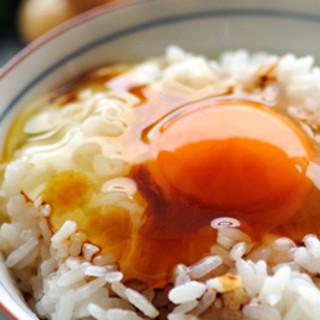 生卵とご飯はおかわり自由です。