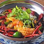 食彩ガーデン - イカと唐辛子炒め