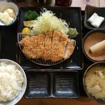 のもと家 - 『特選ロースカツ定食160g』@2,000円(税込)