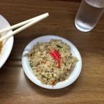 中華一番 - ラーメン定食650円のミニ焼き飯