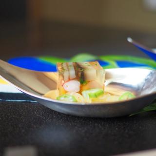 柏屋 大阪千里山 - 料理写真:■車海老の煮こごり