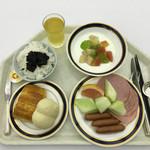 53800884 - 朝食ブッフェの空中写真