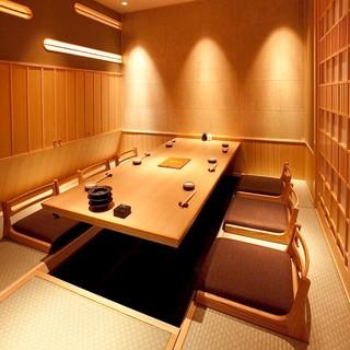完全個室は接待・会食に最適なお部屋