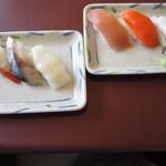 グランファームビュッフェ モリモリ - 寿司はオーダーしてだしてもらいます。