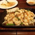 萬華 - イカの鉄板焼き