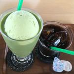 ミハラシ・カフェ - 抹茶フロート&アイスコーヒー