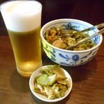 中華風家庭料理 ふーみん - ザーサイと生ビール