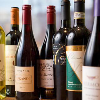 【飲み比べでお気に入りを見つけて♪】豊富なイタリアワイン