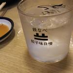 博多祇園鉄なべ - 1607_祇園鉄なべ_焼酎(芋)ロック@420円