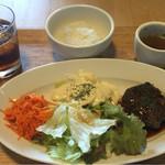 石畳茶屋 - ジューシーハンバーグランチセット 1300円+税
