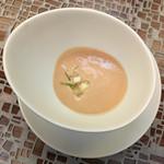 レシピ - 本日の有機野菜のポタージュ  桃とセロリの冷製スープ