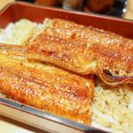 炭焼きうなぎの魚伊 - 鰻アップ