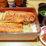 炭焼きうなぎの魚伊 - 鰻と肝吸い
