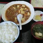 七福 - 麻婆豆腐定食です。