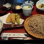 宮の蕎麦 兎屋 - そば御膳(1300円)