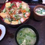 魚がし日本一 - アツアツ茶碗蒸しとアオサ汁