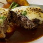 洋食屋 神戸デュシャン - ラクレットチーズの手ごねハンバーグステーキ