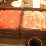 鍋ぞう - 豚肉(千葉県産)&牛肉(米産)