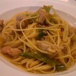 キッチン ボナ ドンナ - 料理写真:チキンと長ネギなすの和風スパゲッティ