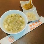 中国飯店 - ランチのスープと小鉢♥ p(^-^)q