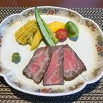 お宿 浜田館 - 常陸牛のローストビーフ