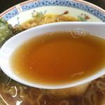 53849582 - 醤油が強目なスープ