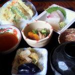 石水 - お好み膳 天ぷら 1050円