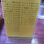 鶏泉 - メニュー①