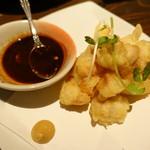 鶏人 - ささみの天ぷら