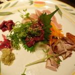 鶏人 - 名古屋コーチンのお造り盛り合わせ