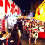 肉焼屋ワイン部 ジャストMEAT  - 当夜は近所の野田戎神社で夏祭りがあった。<2016/7/19>