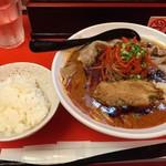 辛口ガチ味噌肉ソバ ひるドラ - 辛口ガチ味噌肉ソバ<LV4>(800円)+白ご飯<小>(100円)