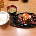 Tomiya - ステーキセット(980円)