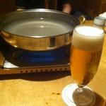 月亭 -  昼間のビールは美味しいです ('16/06/25)