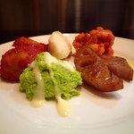 トラットリア・ミオ・フェリーチェ - 「前菜5種盛り合わせ」です。
