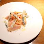 シロッコ - 飯山の桃とゴルゴンゾーラチーズ (1000円) '16 7月中旬