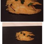 53875223 - 2016.3アミューズ①白魚にパルミジャーノ、面白美味しい。