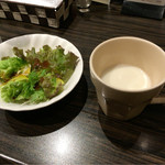 53875592 - サラダ&スープ〜(^o、^)/