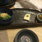 日本酒×北海道食材 地元家 - 前菜3品