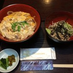 割烹 船勢 - 201607 船勢  ★親子丼+そば(961円)★