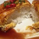 上海湯包小館 - 黒酢天津飯の中身は白米でした。