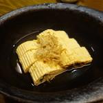 魚伝 - 2016.07 明石焼き風だし巻き玉子(税別626円)