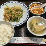 中華菜館 會賓楼 - 日替わりセット(豚肉と筍の糸切り/麻婆豆腐/スープ/ご飯)