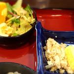 53883750 - サラダと小鉢は おから