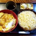 うすい - 日替わりランチ(カツ丼+うどん冷) 600円