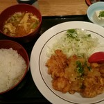 和菜房 the kitchen 晴 - 鶏唐揚のおろしポン酢(定食)