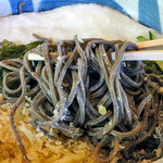 手打蕎麦いちむら - めかぶぶっかけ・十割蕎麦・大盛り(2016年7月)
