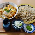 秋月庵 三次郎 - 料理写真:かつ丼そばセット