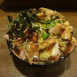 ひだまり庵 - 4種盛肉丼大1200円(税込)