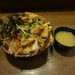 53892626 - 4種盛肉丼大+味噌汁